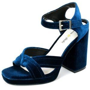 NWOT Seven Dials Poliana Velvet Heels, size 10